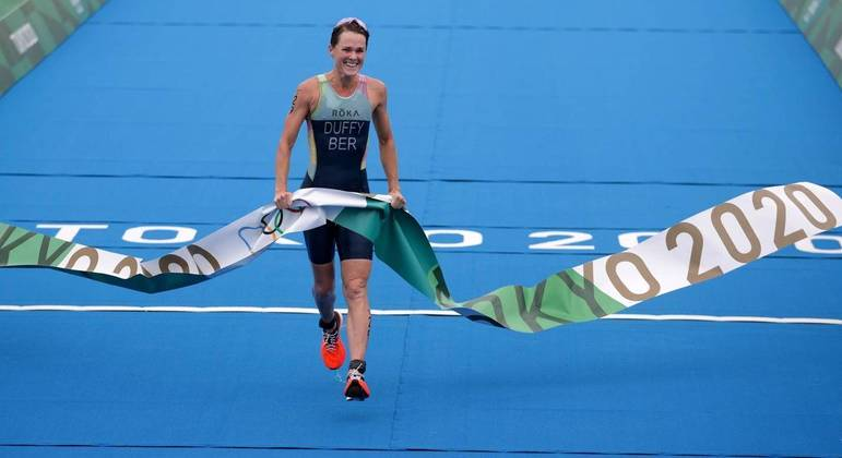 Flora Duffy levou o ouro no triatlo feminino