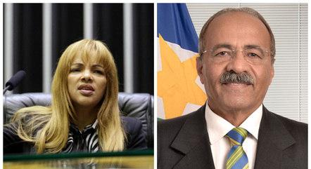 Deputada Flordelis e senador Chico Rodrigues