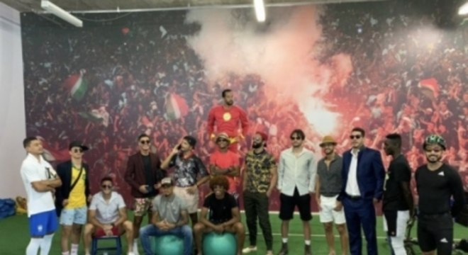 Fluminense - brincadeira no CT