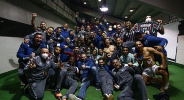 Fluminense comemora vitória sobre o River