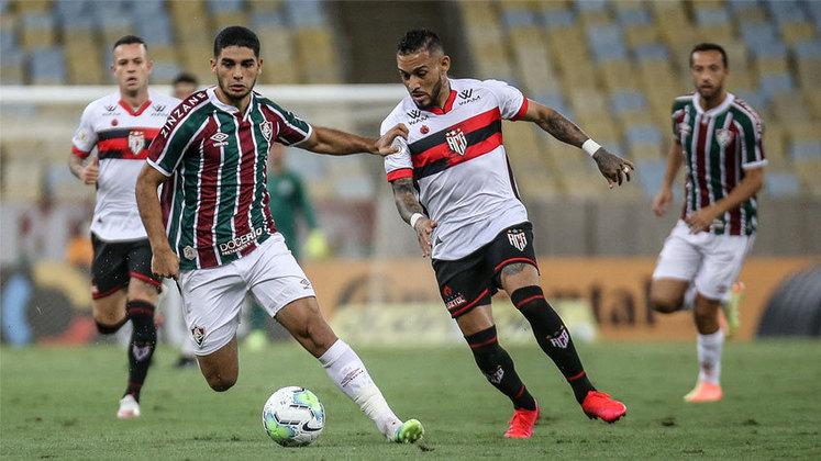 FLUMINENSE OU ATLÉTICO-GO: A última vaga para as oitavas de final será decidida hoje (24), às 21h. No confronto de ida, o Fluminense venceu o Atlético-GO pelo placar mínimo