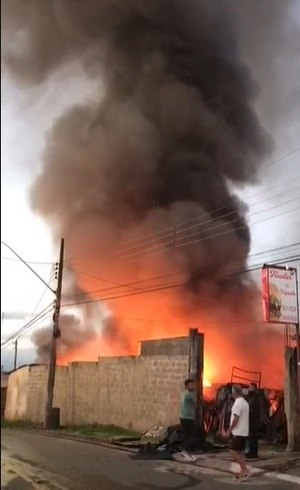 Ninguém ficou ferido no incêndio