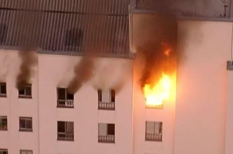 Apartamento pegou fogo no centro de SP