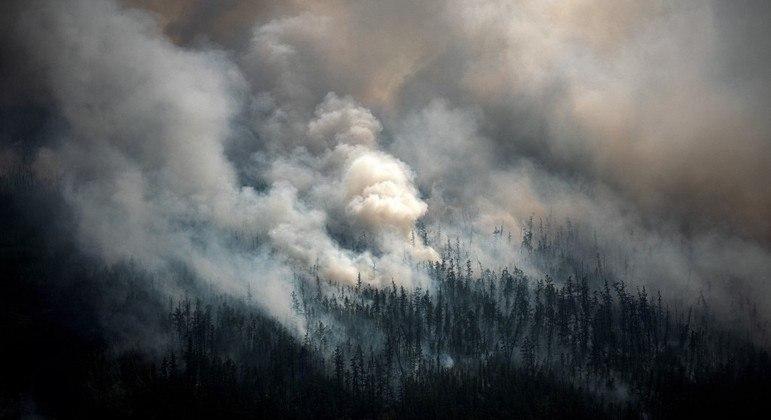 Sibéria teve mais de 1,5 milhão de hectares consumidas por incêndios