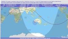 Foguete chinês deve cair no oceano Índico, perto da Austrália