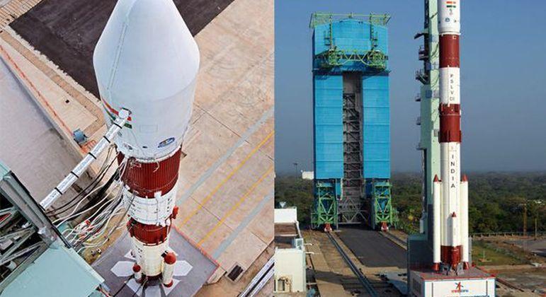 Foguete lançado na Índia leva o satélite brasileiro ao espaço