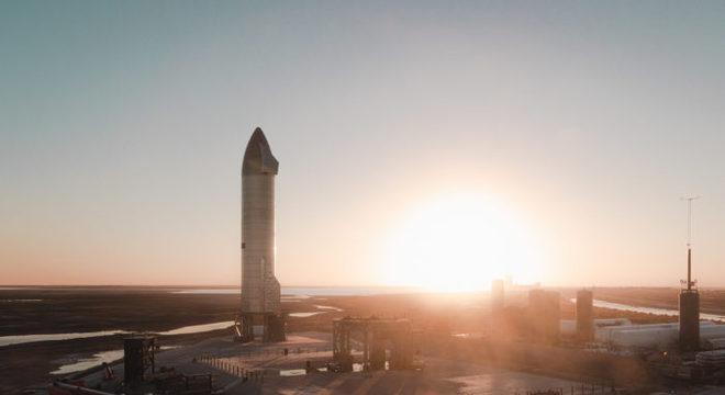 Foguete Starship SN9 (imagem: Flickr/SpaceX)