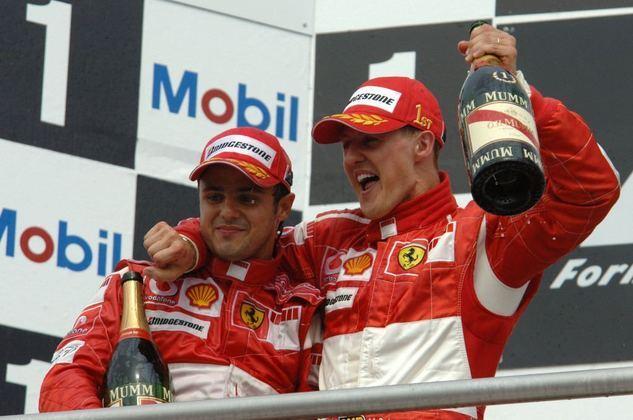 Foi a última corrida de Michael Schumacher pela Ferrari. Heptacampeão era parceiro de Felipe Massa, vencedor no Brasil.