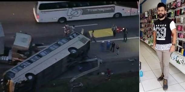 a469563ad Capixaba morre após capotamento de ônibus em São Paulo
