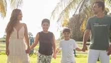 Wanessa Camargo surge em fotos fofas com Marcus Buaiz e filhos
