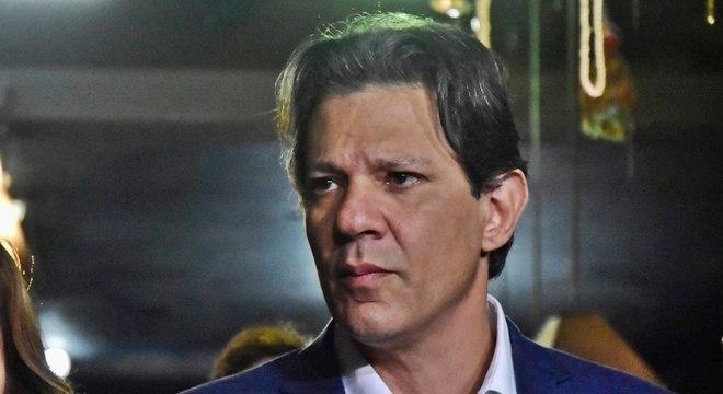O presidenciável Fernando Haddad (PT): assessores são investigados