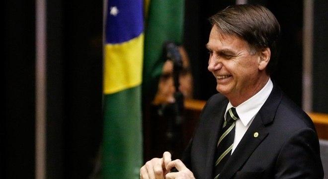 Jair Bolsonaro em evento na Câmara dos Deputados