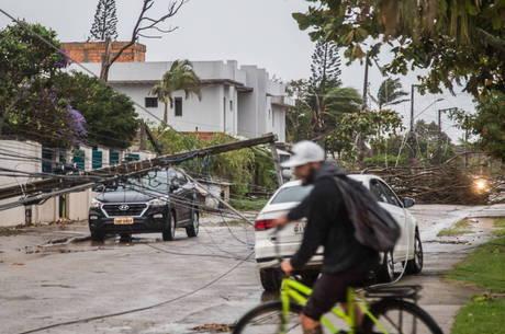 Em Florianópolis, houve um rastro de destruição