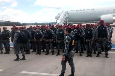 Homens da Força Nacional embarcam para Fortaleza