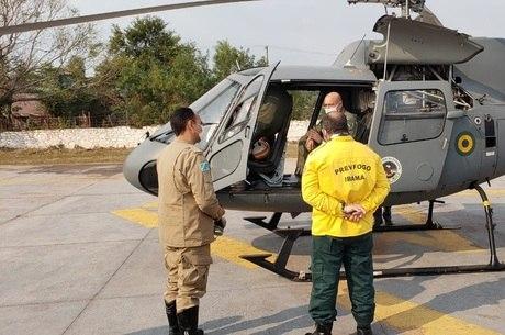 Forças armadas vão auxiliar no combate de incêndio