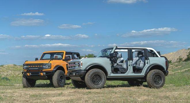 Bronco terá duas versões com apelo mais retrô e off road com tração 4X4 e motor 2.3 e 2.7