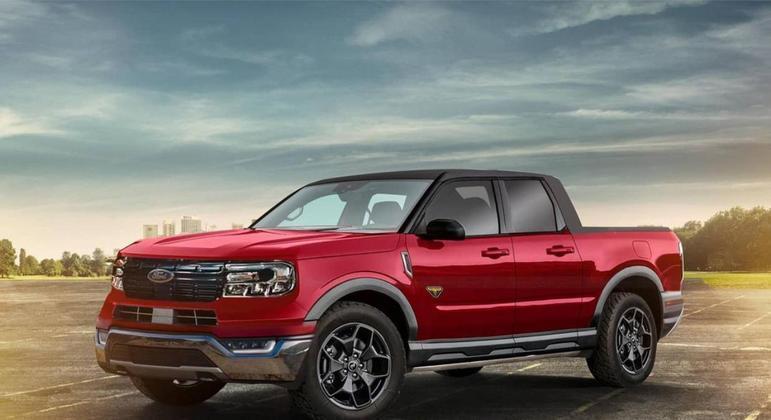 Projeção da pickup Maverick, que retoma o nome do esportivo produzido nos EUA e no Brasil