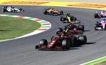 O GP da Toscana também marcou a milésima corrida da Ferrari na Fórmula 1. Charles Leclerc terminou a prova em sétimo lugar. Sebastian Vettel, companheiro de Leclerc na Ferrari, fechou a corrida na décima colocação