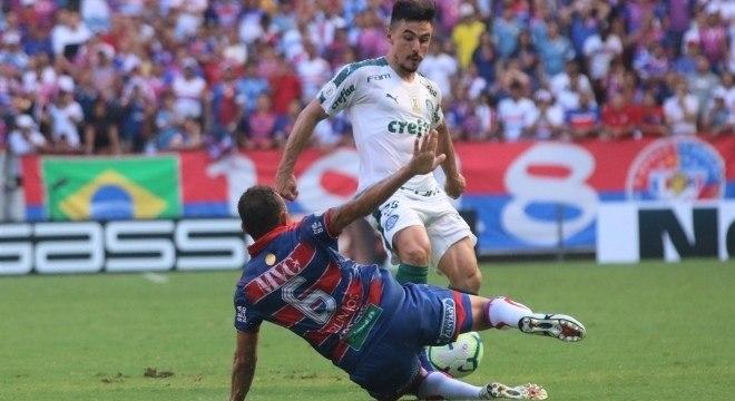 Willian marcou o gol do Palmeiras contra o Fortaleza