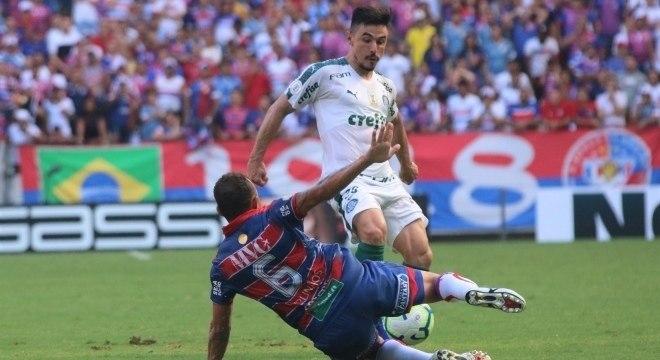 A falta de imaginação do Palmeiras no ataque foi assustadora