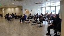 Fórum tem aglomeração em sala de espera por audiência em SP