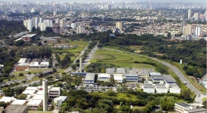 Foto aérea da USP, uma das principais universidades públicas do país