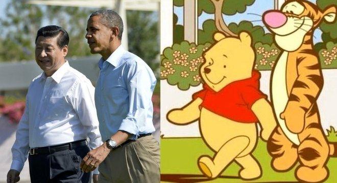 Montagem com Xi Jinping e Barack Obama começou a circular em 2013