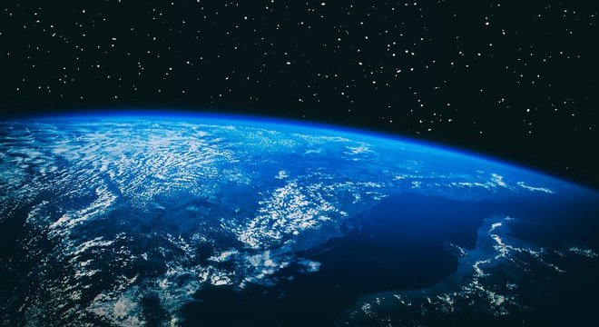 A cor azul da Terra se deve ao dióxido de carbono, que foi sintetizado em oxigênio