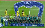 foto posada Palmeiras, Paulistão 2021,