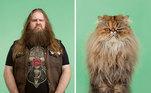 Você se parece com seu gatinho? Esses dois poderiam ser irmãos gêmeos!