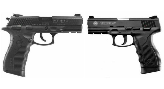 As pistolas modelo 840 e 24/7, da Taurus, foram proibidas pelo Exército por causa de irregularidades na fabricação