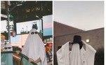 A hashtag#GhostPhotoshoot foi levanta por centenas de adolescentes e gerou fotos como essa