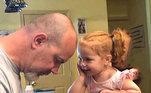 O pai é sempre o primeiro herói de qualquer filha. Pode não usar capa, mas ajuda a pintar as unhas!