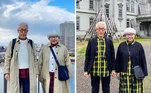 Muito amor pelos looks sempre combinando desse casal fashionista japonês