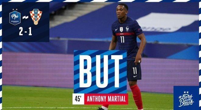 Martial, mesmo sem Mbappé, a virada da França, 2 X 1 na Croácia