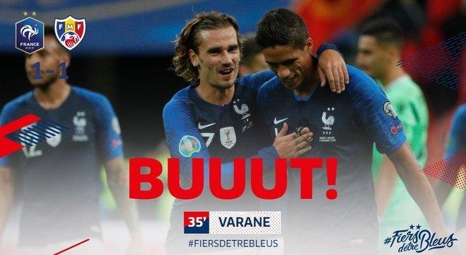 Varane, do elenco da França