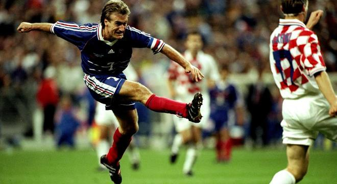 Deschamps, técnico da França, já jogou contra a Croácia em Copa