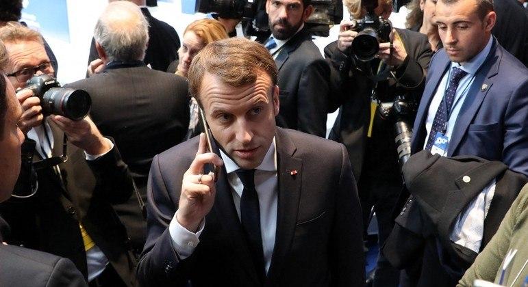 Macron teria sido um dos espionados com o uso do spyware Pegasus