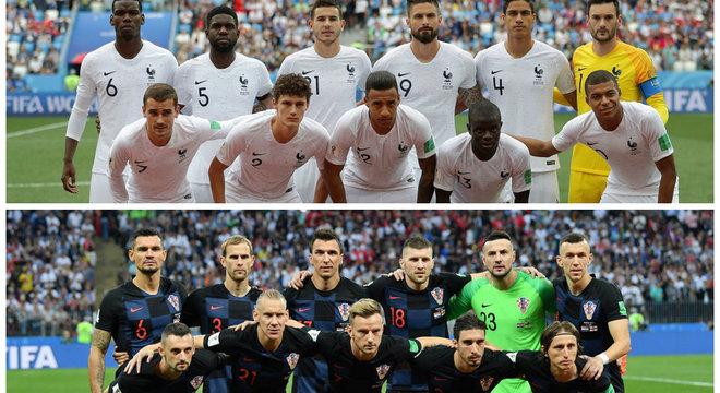 França e Croácia definem o campeão da Copa do Mundo de 2018 neste domingo (15)