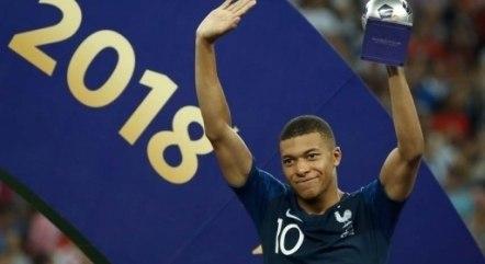 Mbappé foi o melhor jovem da Copa de 2018
