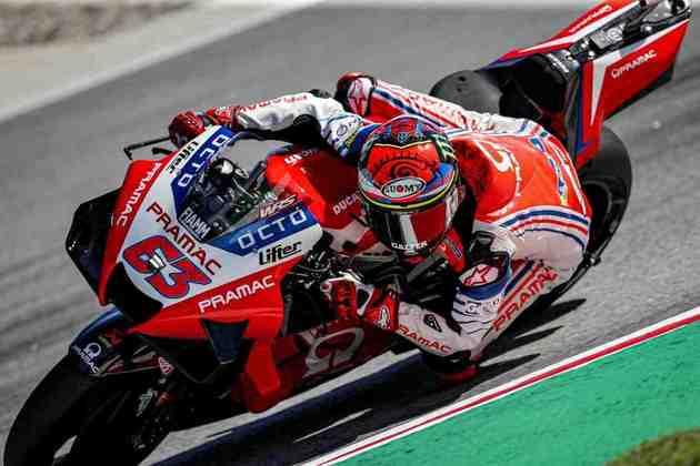 Francesco Bagnaia sai apenas em 18º
