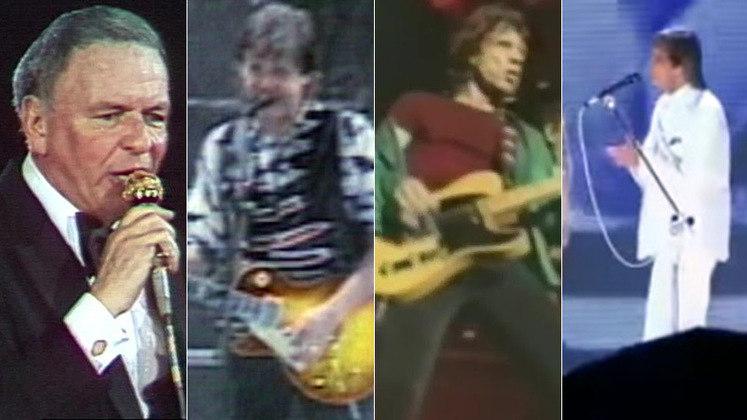 Frank Sinatra, Paul McCartney, Rolling Stones, Roberto Carlos... O Maracanã abriu suas portas para artistas de todos os gostos e de diversas línguas durante 70 anos de história. O LANCE! resgata alguns destes momentos nos quais a música teve espaço pelo gramado.