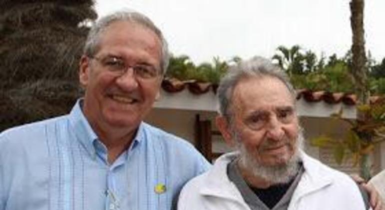Franklin Martins e Fidel Castro