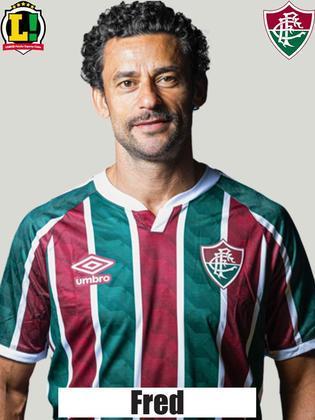 Fred - 5,0  Muito marcado, não conseguiu finalizar com qualidade. O máximo que o camisa 9 fez foi um pivô para Nenê levar perigo ao goleiro do Bahia.
