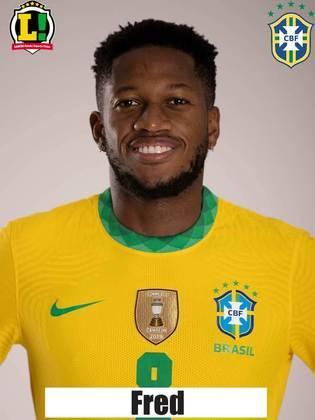 Fred - 6,0 - No primeiro tempo, tentou um chute de fora da área, mas avançoupouco. No entanto, apareceu mais na etapa final, quando deu o passe para o gol de Neymar.