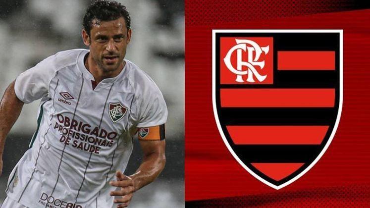 Fred - Flamengo- No ano de 2017, o atacante Fred teve a oportunidade de vestir a camisa do Flamengo, maior rival do clube onde é ídolo e acaba de retornar: