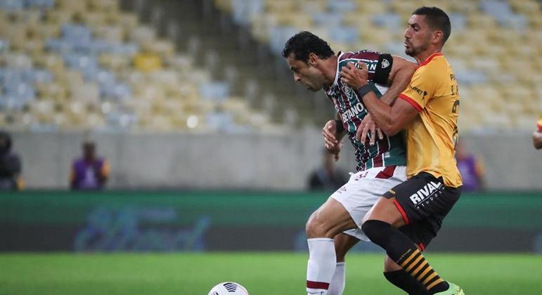 Fred marcou já nos acréscimos e evitou a derrota do Fluminense na Libertadores