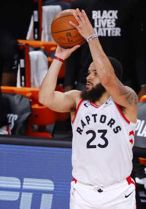 Fred VanVleet (Toronto Raptors) 9,5 - Melhor jogador da partida, VanVleet anotou 30 pontos e distribuiu 11 assistências. Preciso nos arremessos de três, ele acertou oito das dez tentativas
