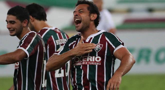 Fred fez o primeiro gol na sua volta ao Flu e garantiu vitória sobre o Vasco