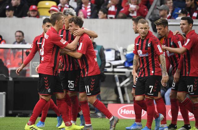 Freiburg - Pontos: 36  / Jogos: 25 / Vitórias:10 / Empates: 6 / Derrotas: 9 / Gols: 34